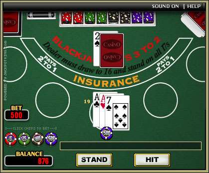 online blackjack flash